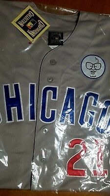 Brand New!! Majestic GREY Chicago Cubs #21 Sammy Sosa 3Patches  sewn Jersey MENS
