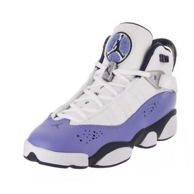 f560d83f7ca854 KID S AIR JORDAN 6 Rings GG Youth White UNC Blue Navy Size 5Y 323399 ...
