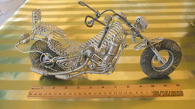 Harley Davidson  Motorcycle Model Handmade from Wire in Brazil Unique, $200