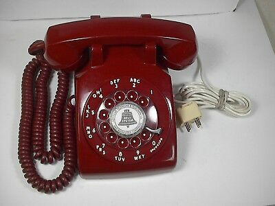 1968 Western Electric/ Bell System Desk  Rotary Dial Telephone, C/d500, Red, G3
