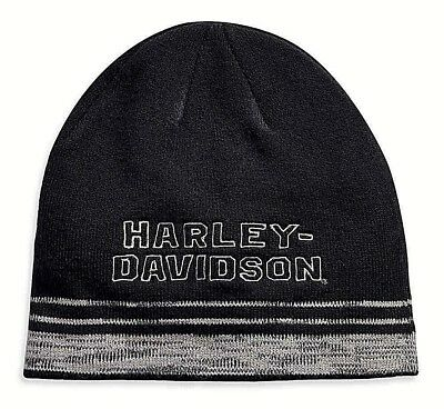 Harley Davidson Nwt Embroidered Heathered Knit Cap Beanie