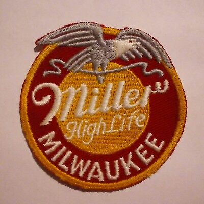 Scarce Original Miller High Life Beer Advertising Patch Bald Eagle Milwaukee