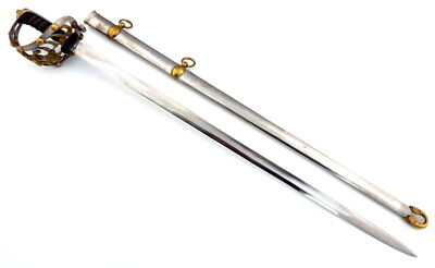 Beautiful English 19Th C. King's Household Officer's Sword Maker Marked Blade