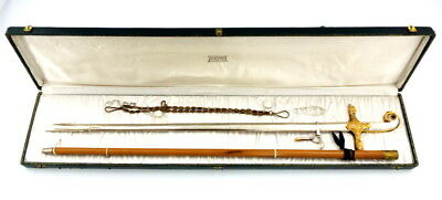 Fine Cased Ww I To Ww Ii Era Italian General's Presentation Sword + Accessories