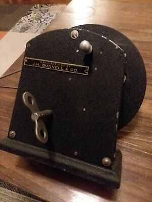 30s (?) J.H. Bunnell Model Ticker Tape Telegraph Winder Runs Nicely See details