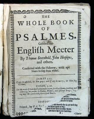 The Whole Book of Psalms Sternhold, Hopkins, Etc. 1662 Edition Complete Reserve