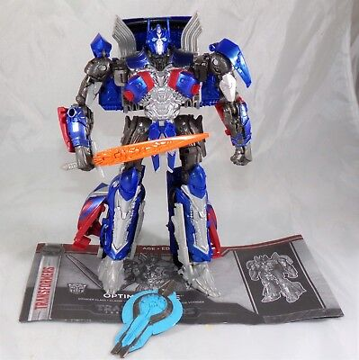 Transformers The Last Knight Voyager Class Optimus Prime Figure COMPLETE MINT