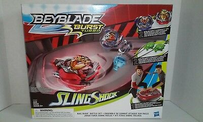 Beyblade Burst TURBO RAIL RUSH BATTLE SET w/ WONDER VALTRYEK V4 & Z ACHILLES A4