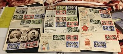 Monaco  8 1956 Royal Wedding First Day Cover +1 Cover A Great Coll Y4/45*