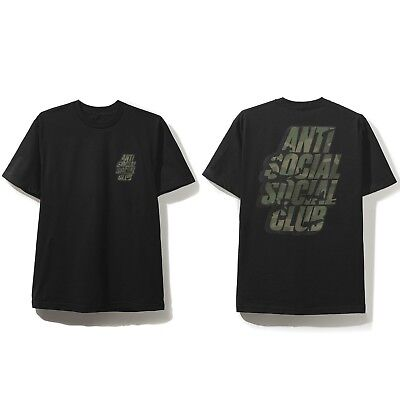 09f739f21ac0 Anti Social Social Club ASSC Blocked Box Logo Camo Black Tee Size S M L XL  2XL