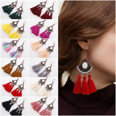 By DOBBI Fringed Tassel Drop Earrings Variety colors available