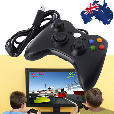AU!! Wired USB Game Controller Gamepad PC Computer Joypad For Microsoft Xbox 360