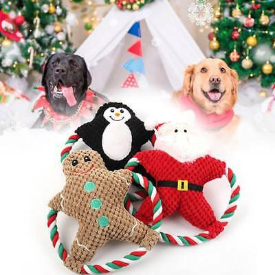 Pet Dog Rope Teeth Chew Toys Animal Shaped Squeaker Squeaky Stuffed Toy Gift