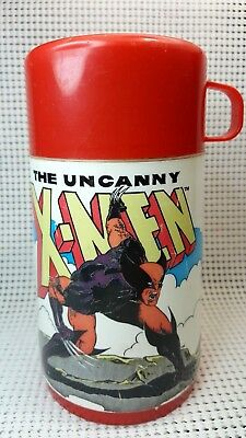 Vintage 1992 Aladdin Lunch Box Thermos Cap Cup Marvel Comics The Uncanny X-Men