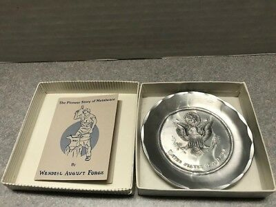 """Wendell August United States of America 3.5"""" inches Hand Forged Aluminum Coaster"""
