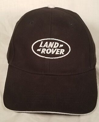 Land Rover Baseball Cap Black With White Logo Velcro Back Baseball Hat 121C