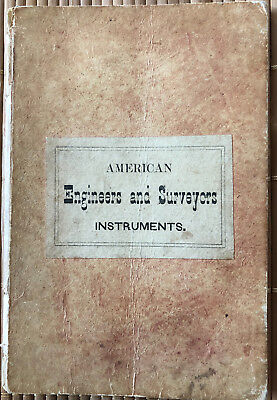 1856 Gurley's Manual of Surveying Instruments - Rare Second Edition
