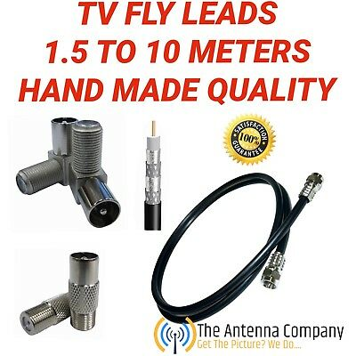 TV antenna lead RG 6 quad coax cable foxtel approved hand made low loss quality.
