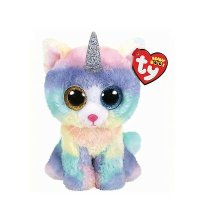 "MWMT~ TY Beanie Boos 2018 6"" Heather the Unicorn Cat Caticorn"