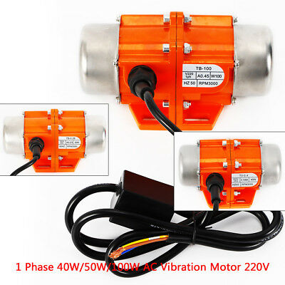 220V 40/50/100W 1-phase Asynchronous Vibrationmotor Vibrierende Motor 3000RPM