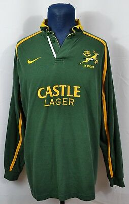 Vtg Nike South Africa Springboks Rugby Jersey Authentic 90 S Sa Mens