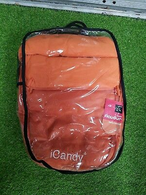 Icandy pram Footmuff brand new never used, orange colour
