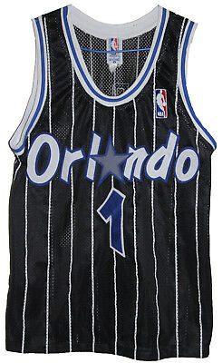 VINTAGE NBA 1990's ORLANDO MAGIC #1 PENNY HARDAWAY SPALDING JERSEY SIZE: SMALL