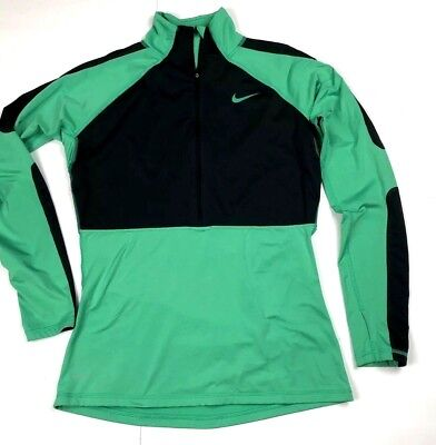 Nike Pro Dri-Fit Pullover Womens Top Long Sleeve Running Shirt Size Large