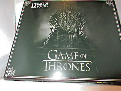 New Mens Game Of Thrones 12 Days Socks Gift Set Shoe Size 6 To 12 Hard To Find!