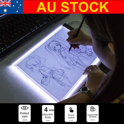 A4 LED Tracing Light Box Drawing Board Art Design Pad Copy Lightbox Day&Light