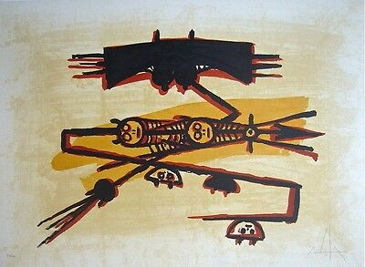 Wifredo Lam litho, signed, numbered, & gorgeous - El Ultimo Viaje II