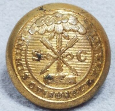 Original Confederate South Carolina 18mm Button Hortsmann  Allien Backmark