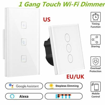 WiFi Touch APP Control Smart Light Dimmer Wall Switch For Alexa Google Assistant