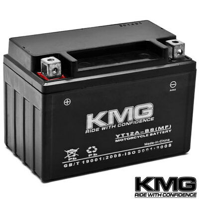 YT12A-BS KMG Maintenace Free 12 Volt Battery Powersport Sportbikes Cruisers SMF