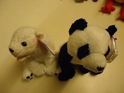 TY BEANIE BABIES - AURORA and CHINA 7th GENERATION  -  MWMTS