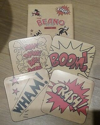 Official The Beano Comic Sound Effect Coasters Brand New In Box By Wild & Wolf