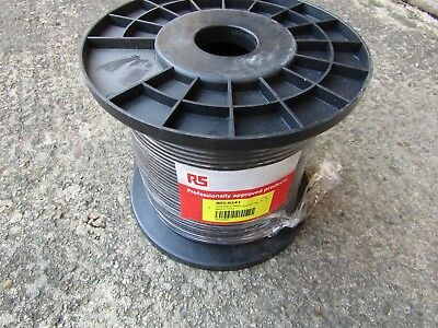 3 reels 100m x Black DS3/4 Coaxial Cable, PVC Sheath 75 Ohm H7M 9056241