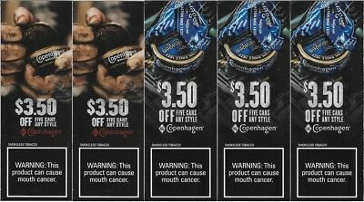 Copenhagen Chewing Tobacco Dip Snuff Roll Cans Discount Coupon Lot