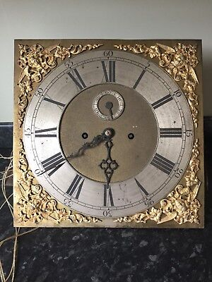 "A Brass Dial 13 "" Longcase Dial & Movement"