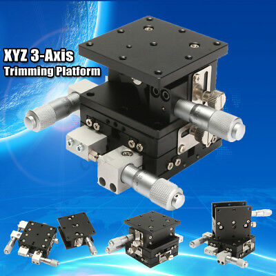 3 Axis XYZ Linear Stage Trimming Platform Bearing Tuning Sliding Table 60x60mm