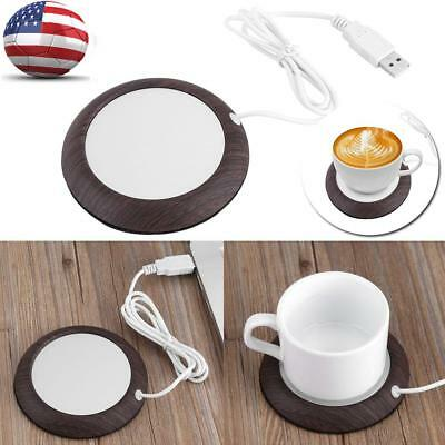 USB Cup Warmer Heat Beverage Mug Mat Home Office Tea Coffee Soup Heater Pad US