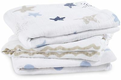 Aden + Anais CLASSIC MUSY - 3 PACK - ROCK STAR Baby BNIP