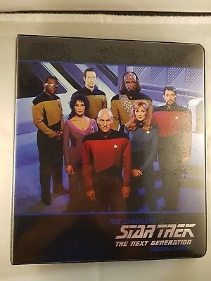 Star Trek TNG COMPLETE Series One Binder + Base set, Promo Card P1