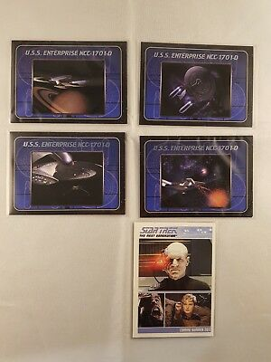Star Trek TNG Complete Series One USS Enterprise Inserts E1,E2,E7,E8,, 1:12 P1