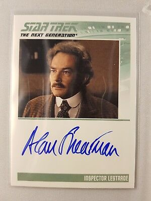 Star Trek TNG The Complete Series One Autograph Card Inspector Lestrade Odds 1:6