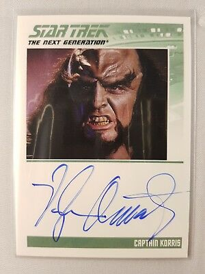 Star Trek TNG The Complete Series One Autograph Card, Captain KORRIS Odds 1:6