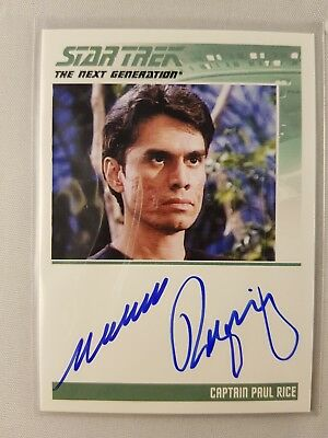 Star Trek TNG The Complete Series One Autograph Card Captain Paul Rice, Odds 1:6