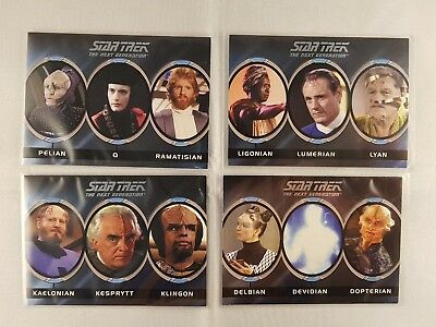 Star Trek TNG The Complete Series One, Aliens Inserts A5,A7,A8,A10, odds 1:8