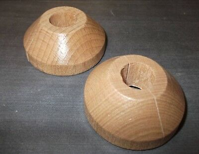 SET OF 2 SOLID PINE SNAP /& LOCK Rose Ring Laminate Floor Cover Pipe Collar Tidy