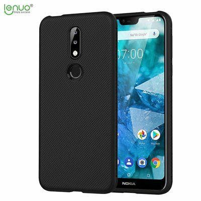 LENUO Dermatoglyph Series Faux Leather TPU Case Cover for Nokia 7.1